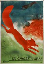 Communism La Chasse En URSS USSR Soviet Red Fox Vintage Retro Canvas Painting Frame DIY Wall Home Posters Home Decor GiftVampire(China)