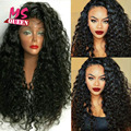 2017 Hot Sale Synthetic Lace Front Wigs Glueless Hair Curly Heat Resistant Black Color Cheap Curly Wigs for Black Women