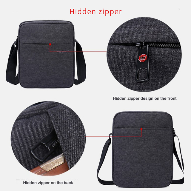 Tigernu Brand Men Messenger Bag High Quality Waterproof Shoulder Bag For Women Business Travel Crossbody Bag 3