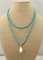free shipping 003869 Freshwater pearl choker 6 mm fine stone chain 13 14 mm keshi pearl necklace