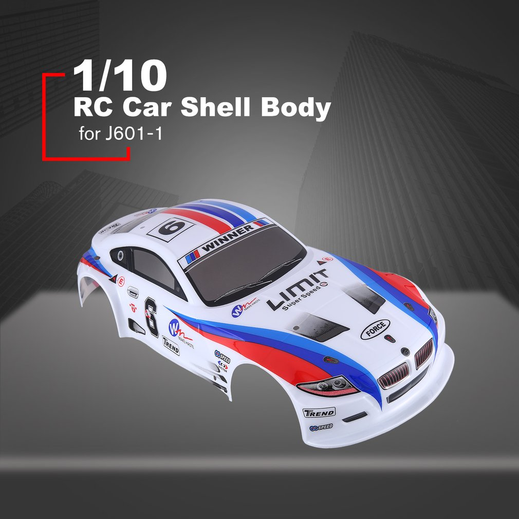 1/10 RC Car Shell Body For J601-1 1:10 Racing Car Car Flat Sports Drift Vehicle RTR Toys Parts Muitlcolors