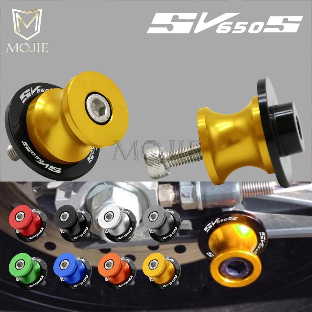 For SUZUKI SV650/S SV650S SV650 S SV 650S SV 650 S All Year 8mm CNC Aluminum Motorcycle Swingarm Spools Slider Swingarm Stand