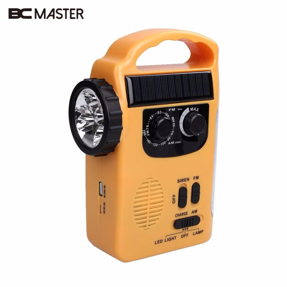 Radio Portable Audio & Video Contemplative Bcmaster Am/fm Radio Support Solar Powered Wind Up Emergency Led Flashlight Torch Light Spare No Cost At Any Cost