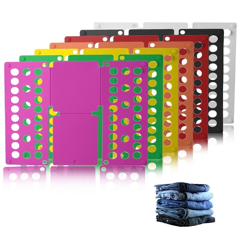 Quick Household Cloth Folding Board Child/Adult Clothes Folder Closet Organizer Clothing Folders Board Organizer Laundry Storage