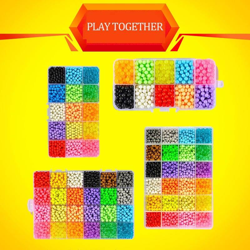 24 Colors Complete Set Magic Beads Aqua Beads <font><b>Puzzles</b></font> Kids Toys Birthday Gift Hama Beads Perler Beads Aquabeads Perlen 3d <font><b>Puzzle</b></font>