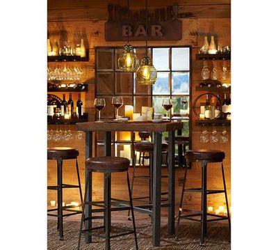 Nostalgia retrò in legno tavoli e sedie tavolino in ferro battuto tavoli da bar bar alto sedie per il tempo libero libero in nostalgia retrò in legno