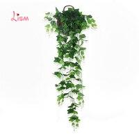 150cm Artificial Hanging Plants Grass Wall Fake Artificial Tree Silk 1pc Leaf PP Plantas Artificiales Para Decoracion