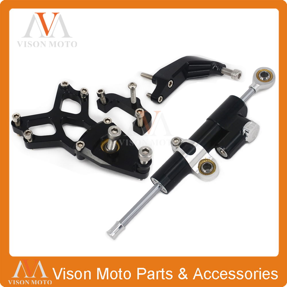 CNC Steering Damper Set Stabilizer With Bracket Mounting Assemblly For HONDA CBR1000 CBR 1000 2008 2009 2010 2011 2012 2013 2014 arashi motorcycle radiator grille protective cover grill guard protector for 2008 2009 2010 2011 honda cbr1000rr cbr 1000 rr
