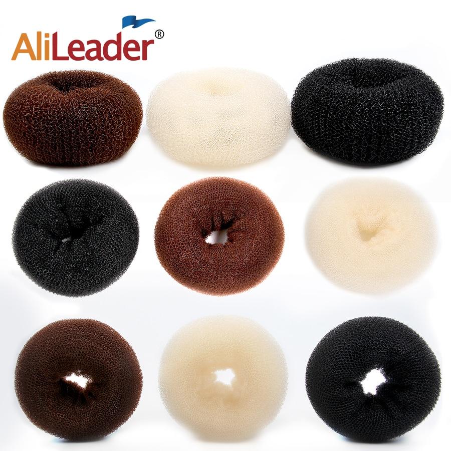 Popular Brand 2016 Hair Donut Bun Ring Shaper Roller Styler Maker Brown Black Blonde Hairdressing S M Elastic Round Nylon Wire 029q 2n1m 8lt4 Braid Maintenance Styling Products