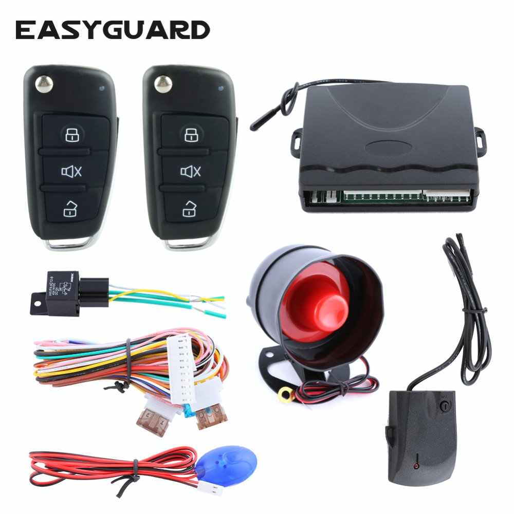 EASYGUARD EC008-P4 RFID car Alarm with transponder arm Disarm keyless go /& Engine Start Stop Button for DC12v Cars