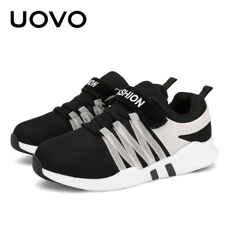 UOVO 2018 New Kids Running Shoes for Boys and Girls Fashion Lightweight Children Sneakers Breathable Kids Shoes Size 31#-39#