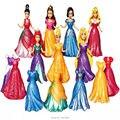 8 CM Clipe de Magia Branca de Neve Vestido de Princesa Magiclip Estátua Cinderela Aurora Anime Figuras de Ação PVC Figuras Dolls Brinquedos Infantis