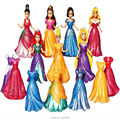 8CM Magic Clip Princess Magiclip Snow White Dress Aurora Statue Cinderella Anime PVC Action Figures Dolls Figurines Kids Toys