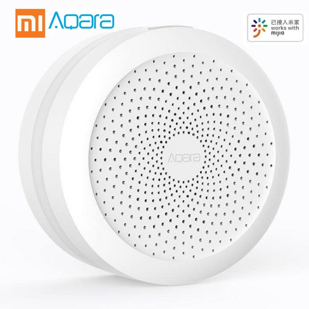 AQara Hub Wi-fi Sem Fio Zigbee Gateway Inteligente com Led night light para Home Automation HOMEKIT Versão Inglês Edição