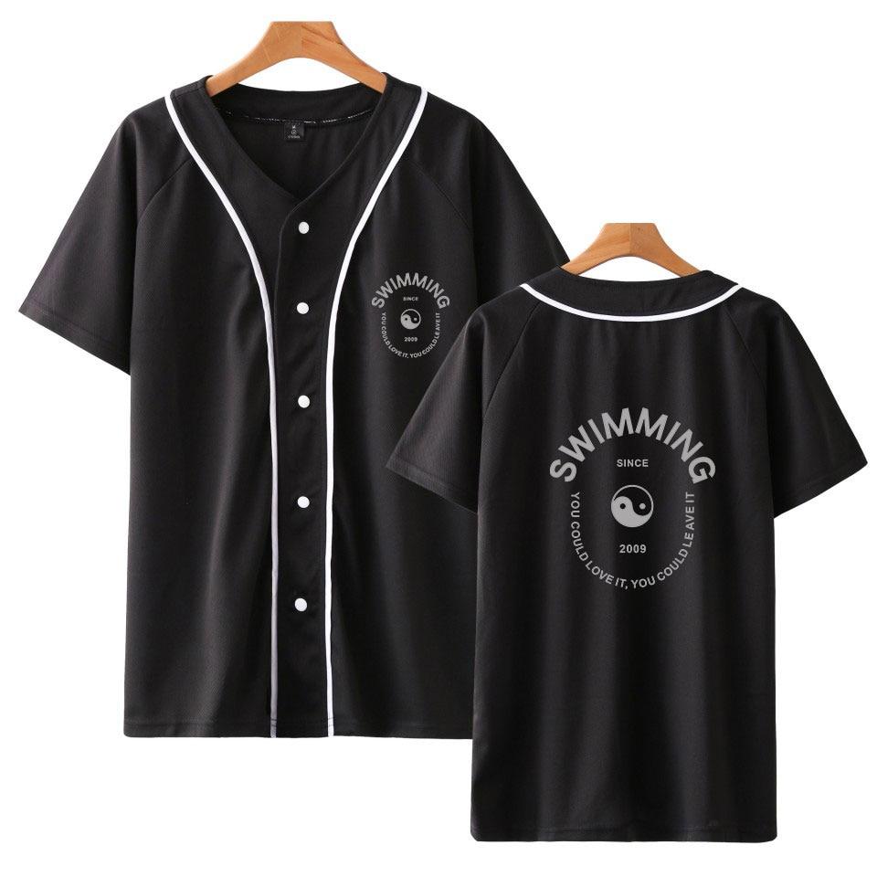 Mac Miller Swimming Baseball Shirt  1