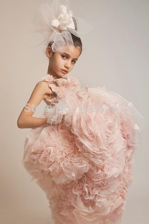 2017 New Designer Flower Girl Gowns Ball Gown Prom Dresses Kids ...