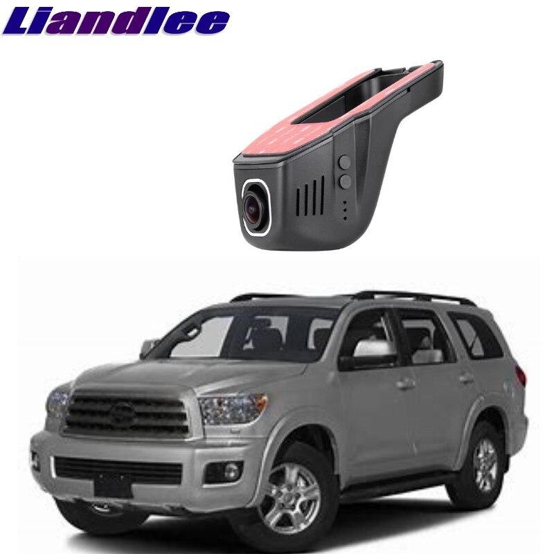 Liandlee pour Toyota Sequoia 2000 ~ 2018 enregistrement de route de voiture WiFi DVR caméra de tableau de bord enregistreur vidéo de conduite