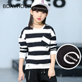 2017 Spring New Children 'S Cotton Long - Sleeved Round Neck Korean Version Of The Fashion Casual Striped T - Shirts