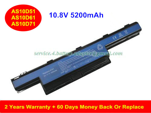 AS10D31 AS10D61 Battery for Acer Aspire 4741 5741 c5750 AS10D31 AS10D41 AS10D51 AS10D61 Laptop Battery 5200mAh