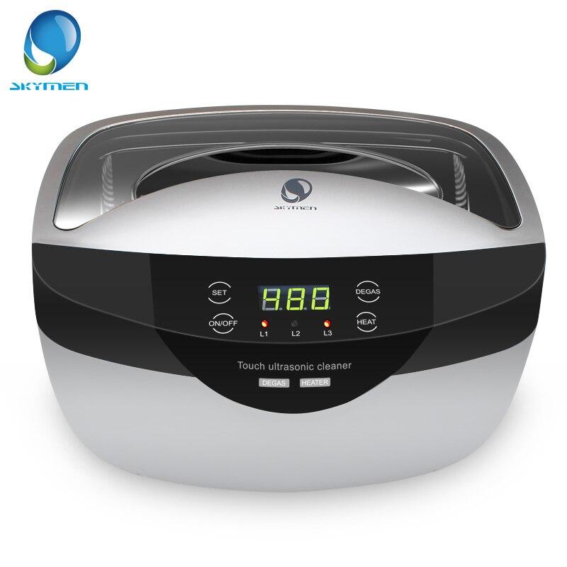 SKYMEN 2500 mL limpiador ultrasónico Degas + ajuste de tiempo Digital para joyería piedras cortadores oro plata relojes gafas-in Limpiadores ultrasónicos from Electrodomésticos    1