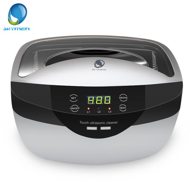 SKYMEN 2500mL Ultrasonic Cleaner Degas+  Digital Time Setting for Jewelry Stones Cutters Gold Silver Watches Glasses