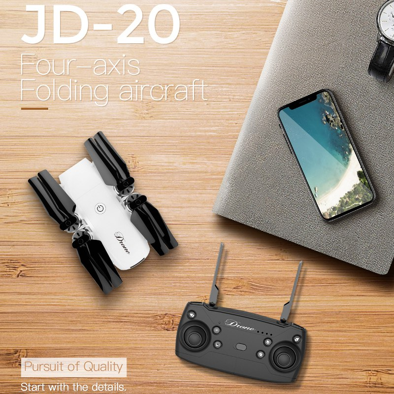 JDRC JD-20 JD20 WIFI FPV Avec Grand Angle HD Caméra Haute Mode d'attente Pliable Bras RC Quadcopter RTF VS JD-11 Eachine E58