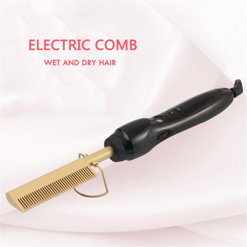Elétrica Pente Alisador wand Cabelo Curling Irons