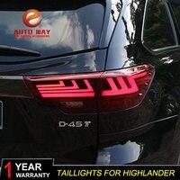 Стайлинга автомобилей задние фонари задний фонарь чехол для Toyota highlander 2018 highlander задние фонари светодио дный Taillghts задние лампы светодио дный