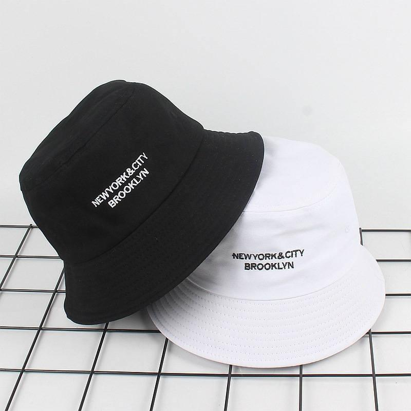 2019 Cotton Letter Embroidery Bucket Hat Fisherman Hat Folding Cap Outdoor Travel Hat Sun Cap Hats For Men And Women 24