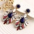 Заявление модный ювелирные изделия элегантный блестящий смола камень богемный стиль серьги винтажный серьги-гвоздики для женщины девочки