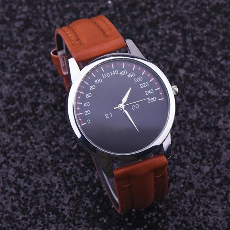 Relógio Dos Homens Relógios Top Marca de Luxo Relogio masculino Montre  Homme 2017 Quartzo Famoso Relógio de Couro Falso Masculino DropShipping 83a3c2f0c1