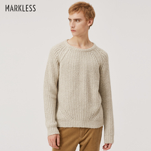 Markless Loose Pullover Sweater Men 2018 Winter Warm O-neck Sweaters sueter hombre Mens Crewneck Knitted Sweater MSA8704M