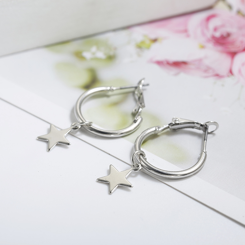 Simple Style Fashion Silver Gold Color Earrings for Women Square Round Geometric Hanging Earrings 18 Female Pendientes Jewelry 41