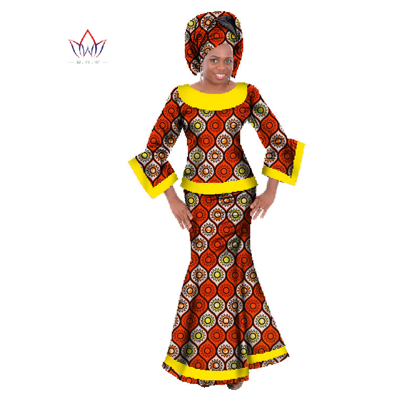 d4b3083a5 Go shopping for best price Private Custom African Print Clothing Wax Women  African Style Skirt Top Set Dashiki Women Set Plus Size Women Clothing  WY064.