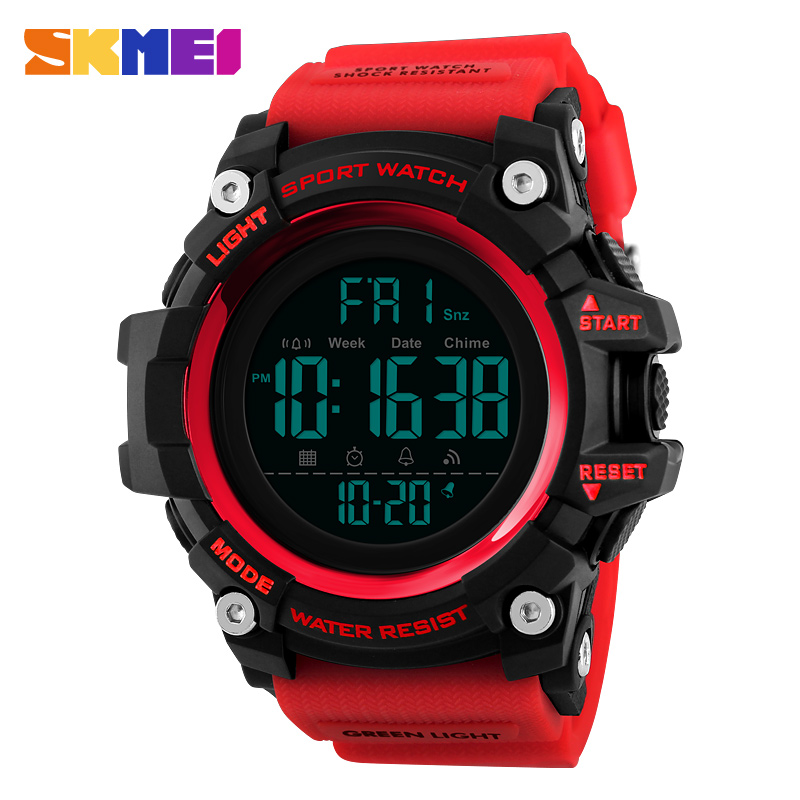 <font><b>SKMEI</b></font> Men Sport Watch Chronograph Fashion Man Watch Top Water Resistant Countdown Clock Digital Wristwatch Relogio Masculino1384 image