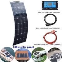 BOGUANG 16V 100W High Qulity Flexible Solar Panels Solar Power Bank Junction Box Waterproof For 12v Outdoor Home Garden Lawn Car