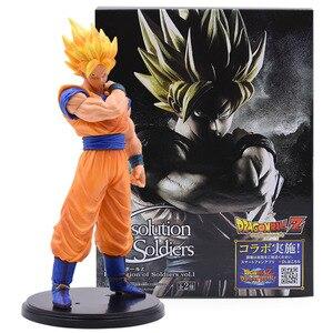 Image 3 - Figuras de acción de Dragon Ball Z, 3 sets, Goku, juguete de modelo de colección en PVC, Super Saiyan, Son Gohan, Zamasu, figura de Broly, juguetes para niños