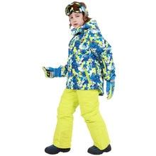 Теплый зимний лыжный костюм набор для мужчин ветрозащитный водонепроницаемый лыжный Сноубординг Костюмы Набор Мужская горнолыжная куртка+ брюки бренд