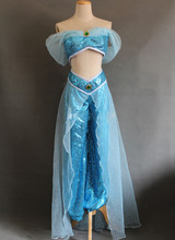 Free Shipping New Style Aladdin Jasmine Princess Cosplay Costume For Adult Women Party Costume Custom Made
