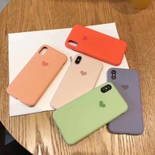 Imitation of the original liquid silicone phone case for iPhone7 8 6 6s plus X XR XS Max phone Love protective cover case coque цена и фото