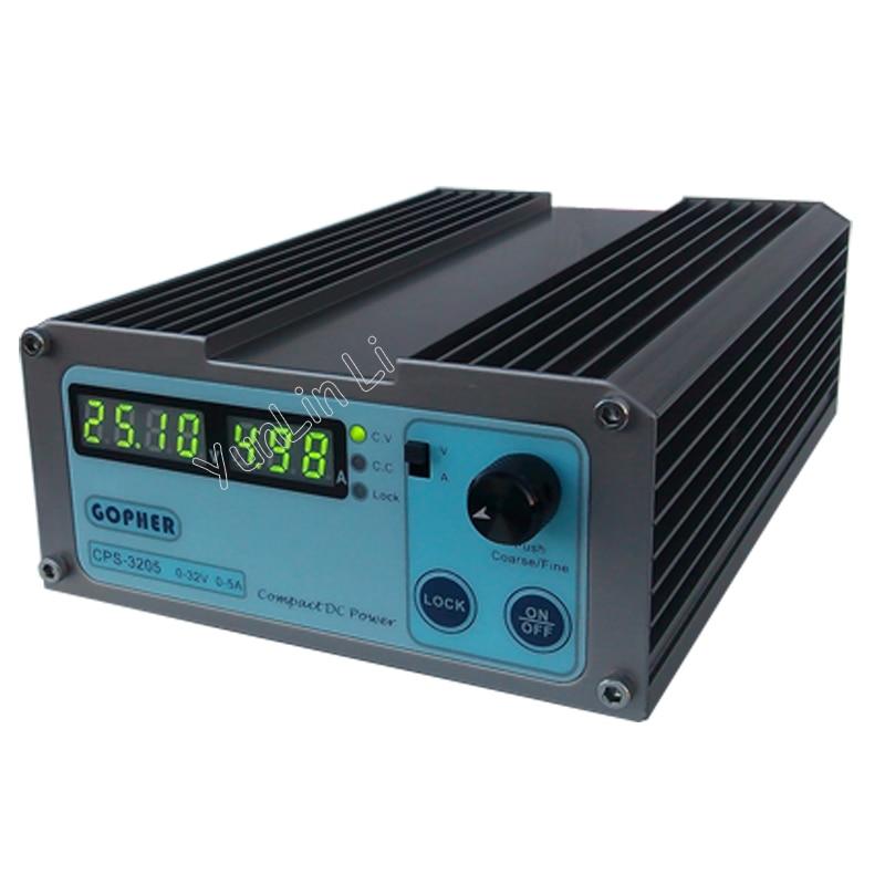 Precision Compact Digital Adjustable DC Power Supply OVP/OCP/OTP Low Power 32V 5A 110V-230V 0.01V/0.01A цена