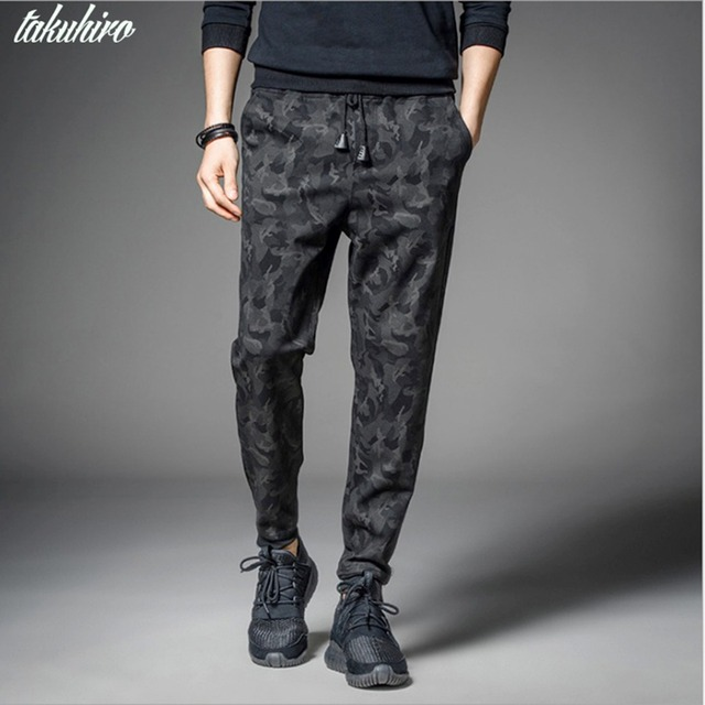 d27fb7dd9 Ocio ocasional negro camuflaje militar joggers slim fit pantalones hombres  pantalones harem Pantalones deportivos pantalon homme