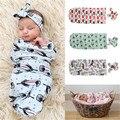 3 Cor Bonito Do Bebê Recém-nascido Sacos de Dormir E Cabeça de Gavetas Blanket Sleeping Bag Sleepsack Carrinho Envoltório Outwear
