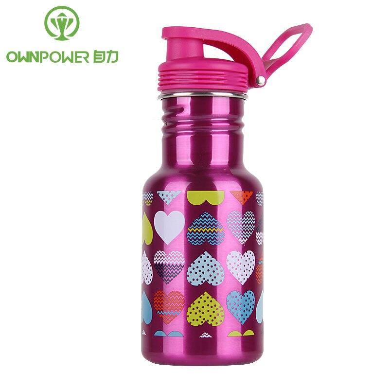 OWNPOWER Nuovo Il Mio in acciaio inox bottiglia di acqua a Perfetta Tenuta di Tenuta A Prova di Sport bere bottiglie di acqua di Sport di viaggio portatile regalo Di Natale