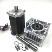 Nema23 Worm Gearbox Ratio 10 1 Hybrid 2phase Stepper Motor L112mm 4 2A Speed Reducer Kit