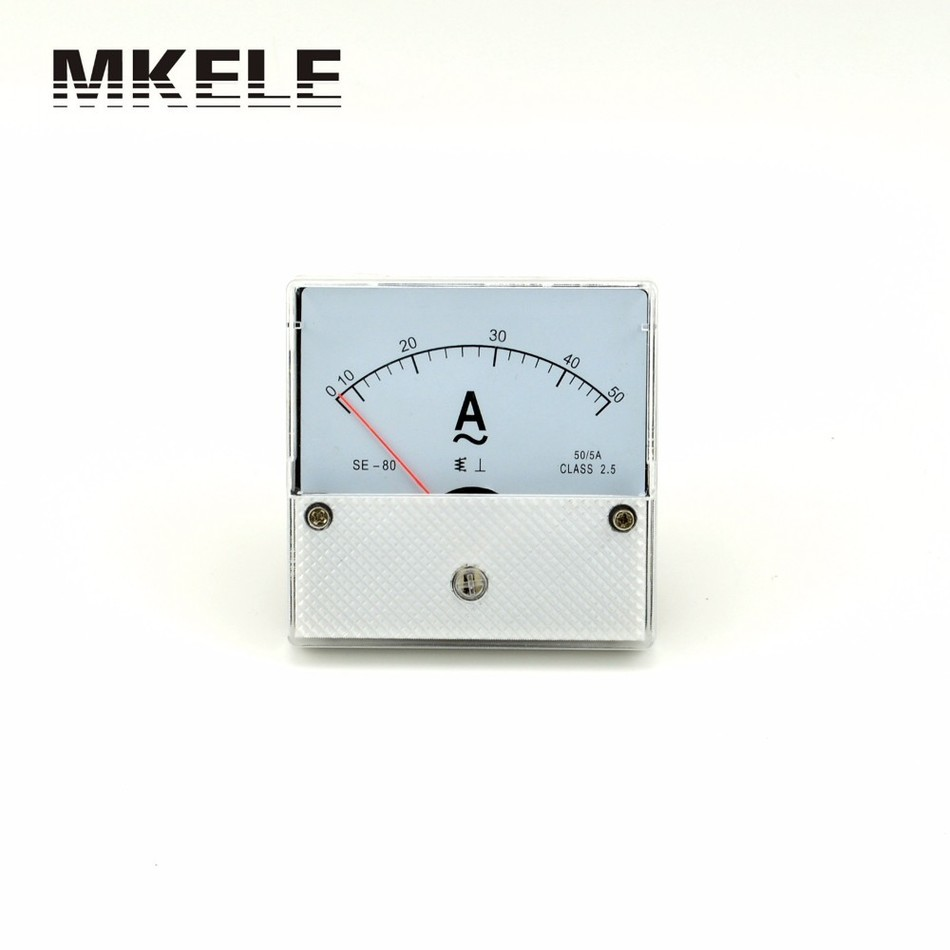 ФОТО New Arrivals AC SE-80 Ammeter Current Ampere Voltage Meter Voltmet Voltmeter Pointer Diagnostic-tool Tester Ampermeter China