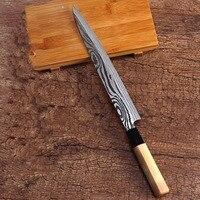 Freies Verschiffen LDZ 5Cr15Mov Hohe Qualität Professionelle Küche Messer Sashimi Fisch Messer Küche Schneiden Lachs-sushi Kochen Messer