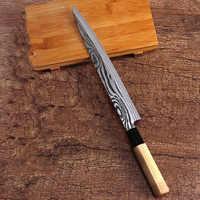 Livraison gratuite LDZ 5Cr15Mov couteau de Cuisine professionnel de haute qualité Sashimi couteau à poisson Cuisine tranchage saumon Sushi couteau de Cuisine