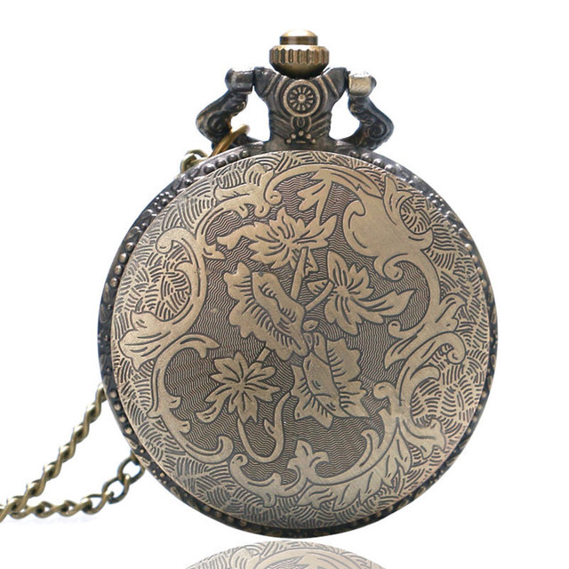 Relogio De Bolso (quartzo) Astrolabio Retro Compass Quartz Pattern Pendant Chain Pocket Watch Men Women Gifts