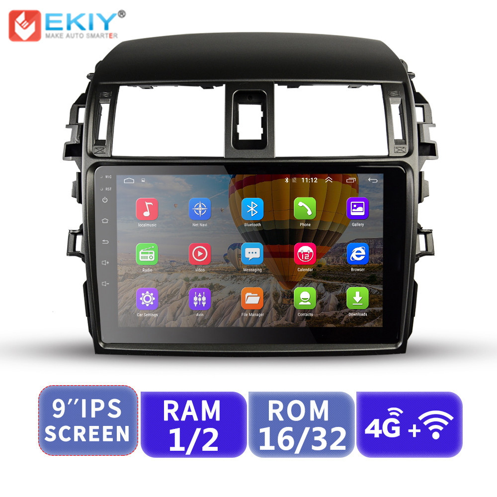 EKIY Android 9 IPS No 2 Din Car Multimedia Player Radio For Toyota Corolla 2006-2013 E140/150 Auto Stereo GPS Navigation WifiEKIY Android 9 IPS No 2 Din Car Multimedia Player Radio For Toyota Corolla 2006-2013 E140/150 Auto Stereo GPS Navigation Wifi